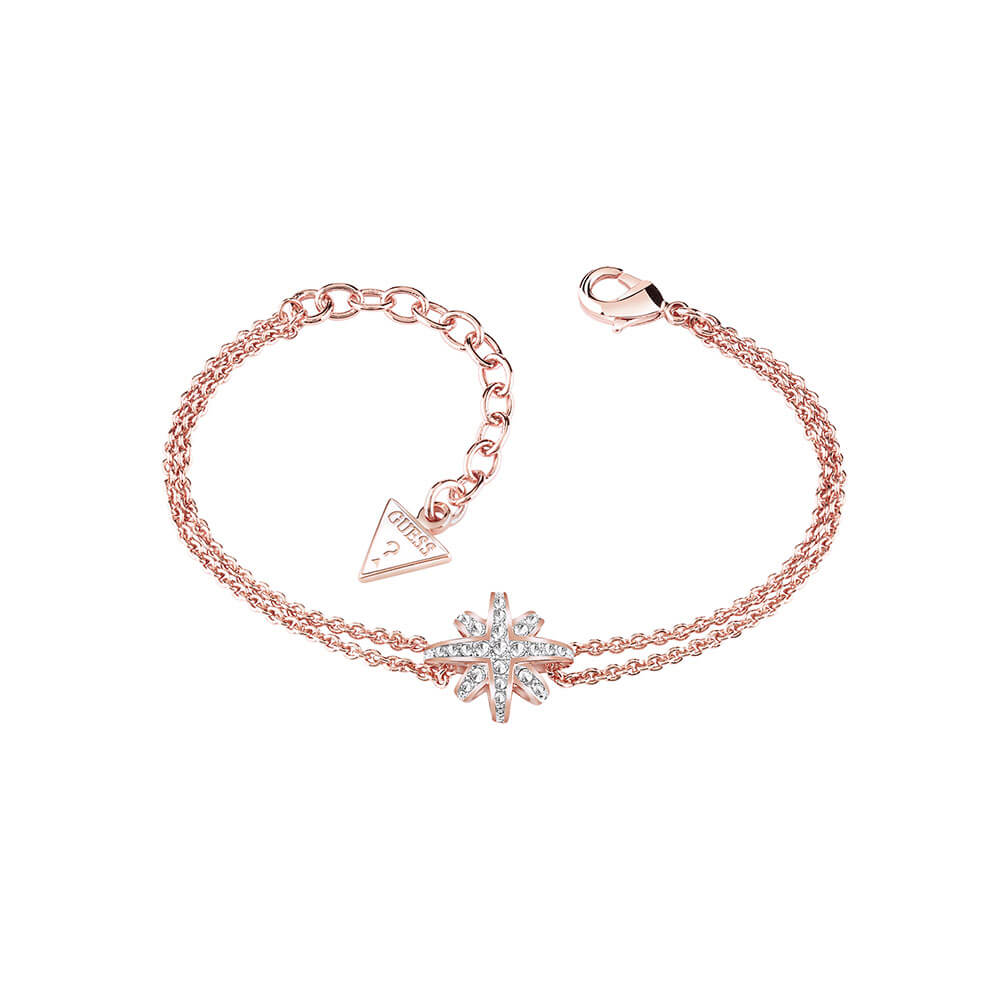 Guess Gold Plated Star Crystal Bracelet
