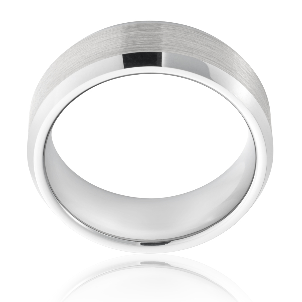 Tungsten Grey Centre Gents Ring
