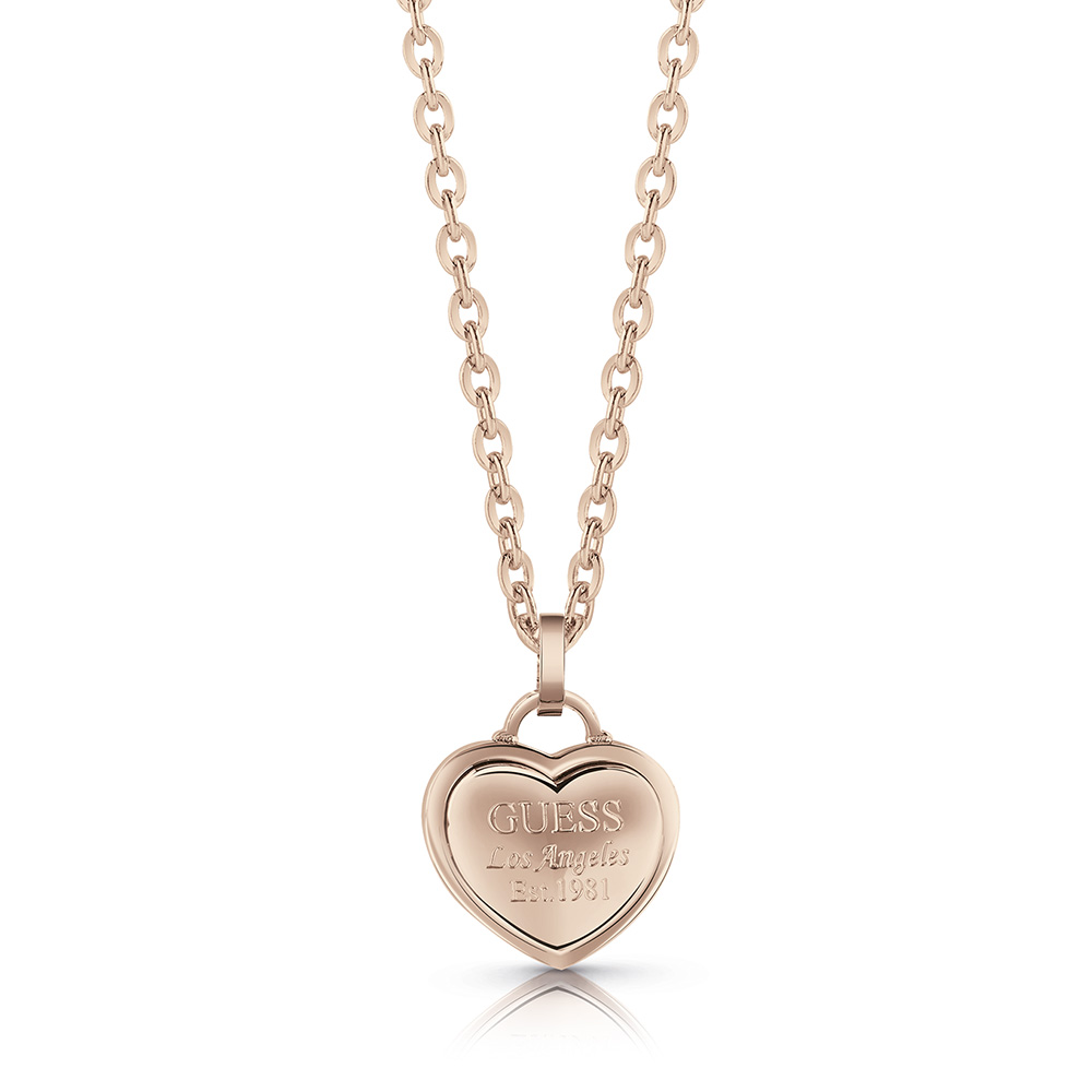GUESS 45cm Rose Plated Small Heart Chain