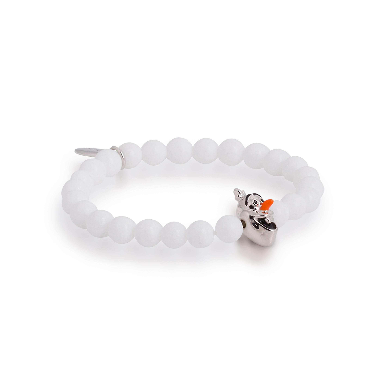 DISNEY Frozen White Olaf Stretch Bracelet