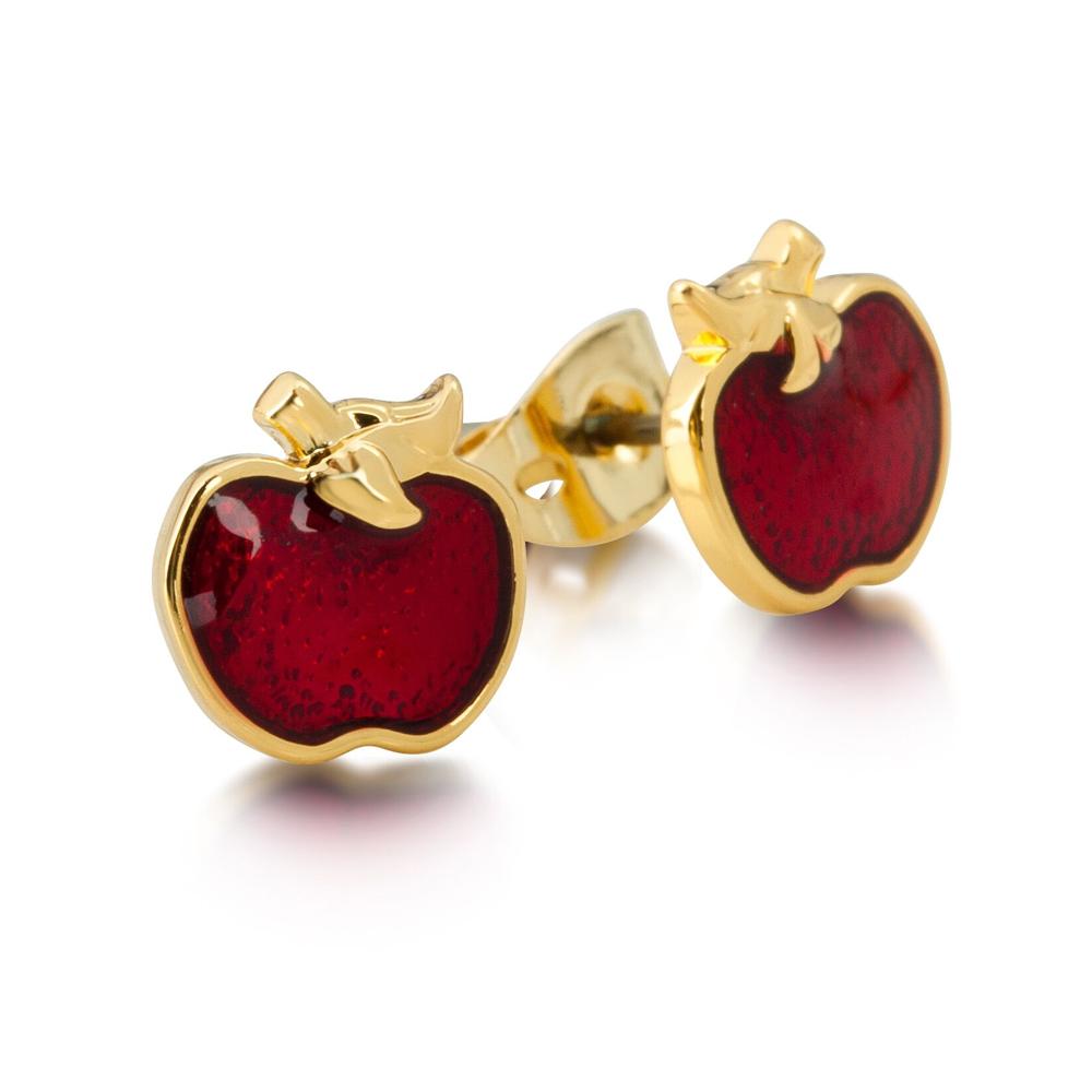 DISNEY Snow White Red Apple Stud Earrings