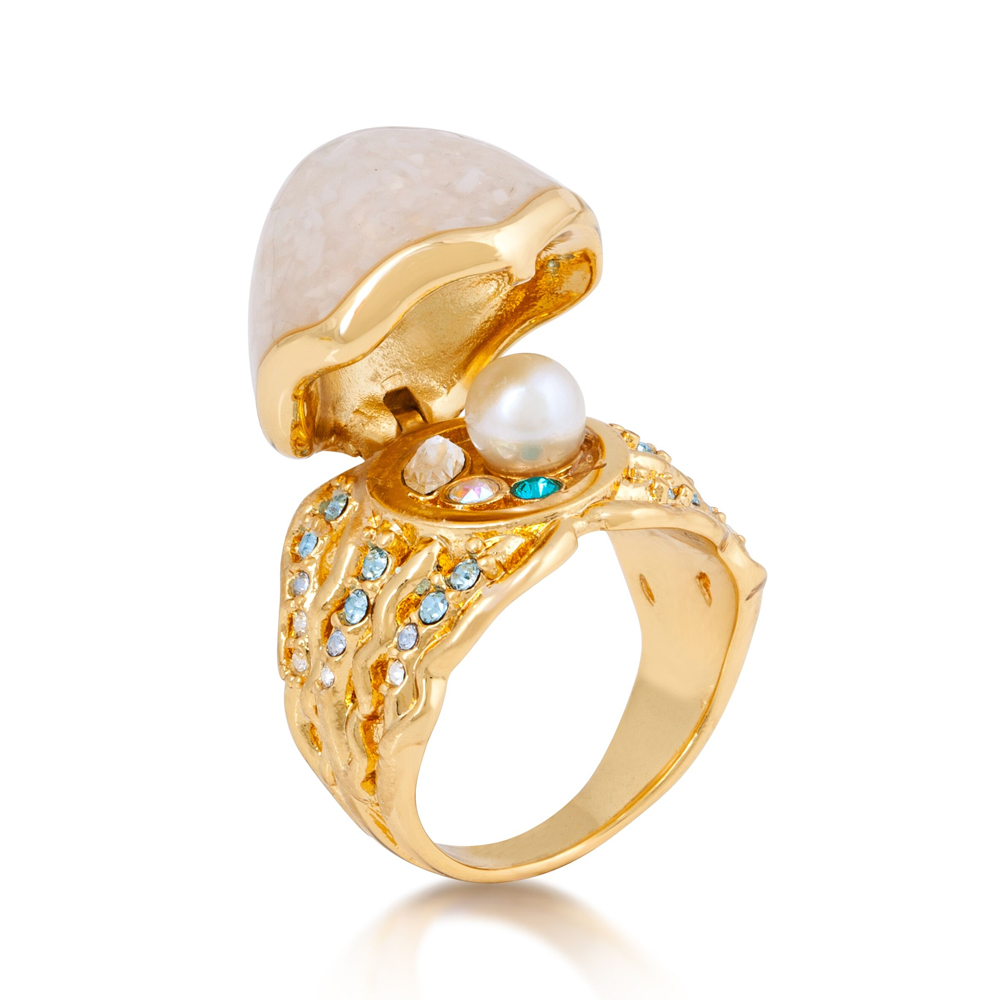 DISNEY The Little Mermaid Ariel Ring  -  Available Sizes: M/O/Q  (NO RESIZE)