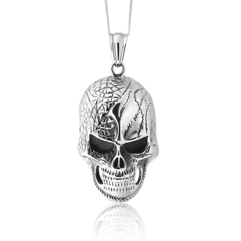 Stainless Steel Large Skull Pendant