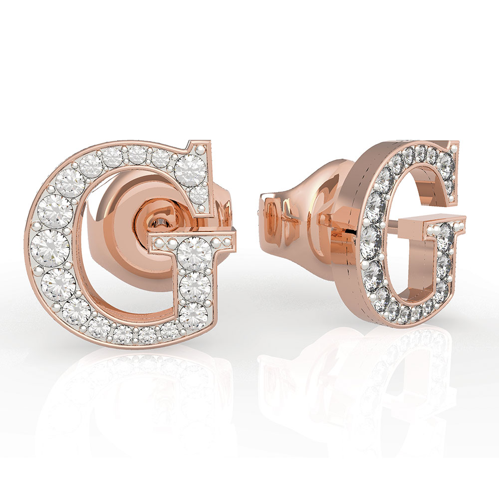 GUESS G Round Pave Stud Earrings