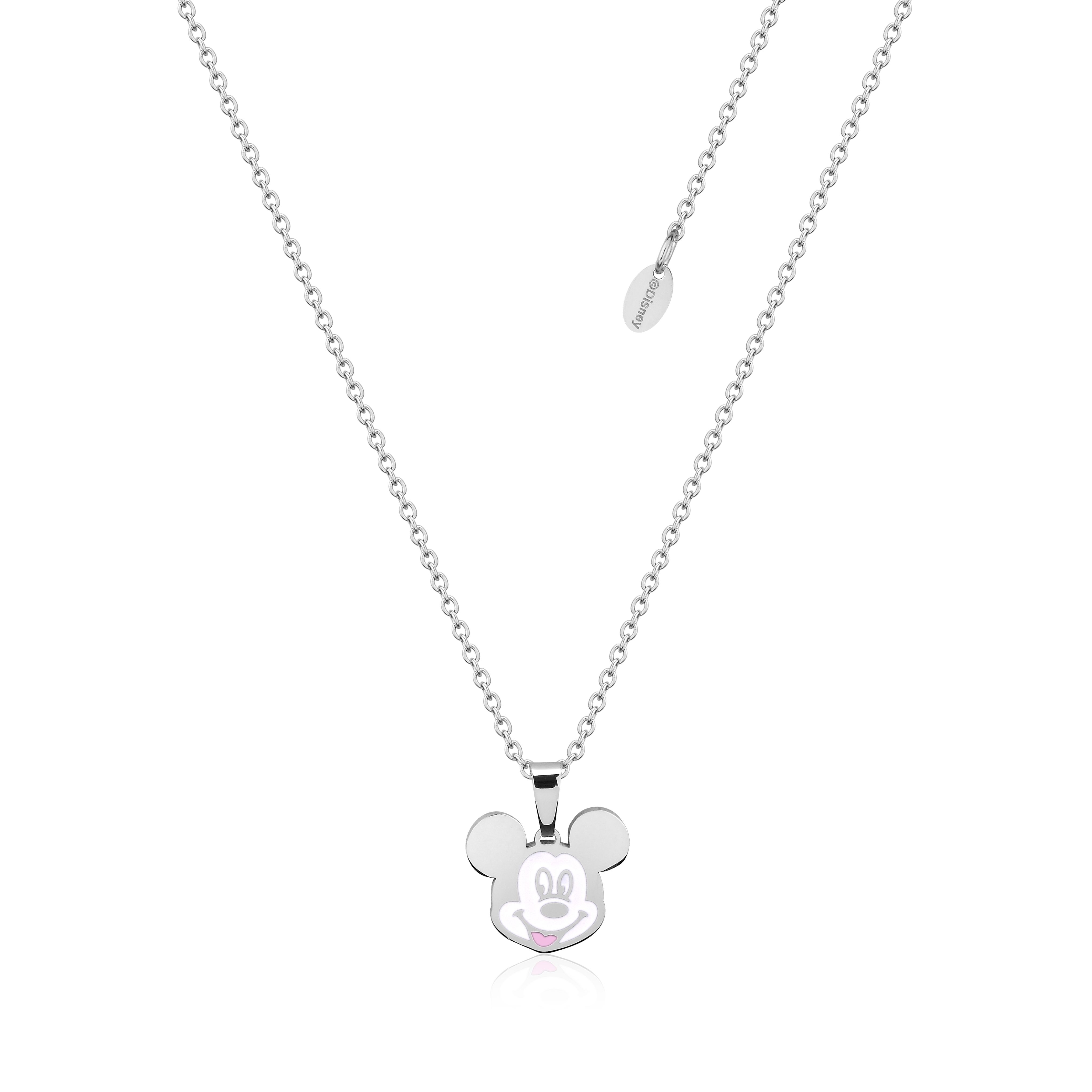 DISNEY Stainless Steel 47cm Animated Mickey Mouse Pendant on Chain