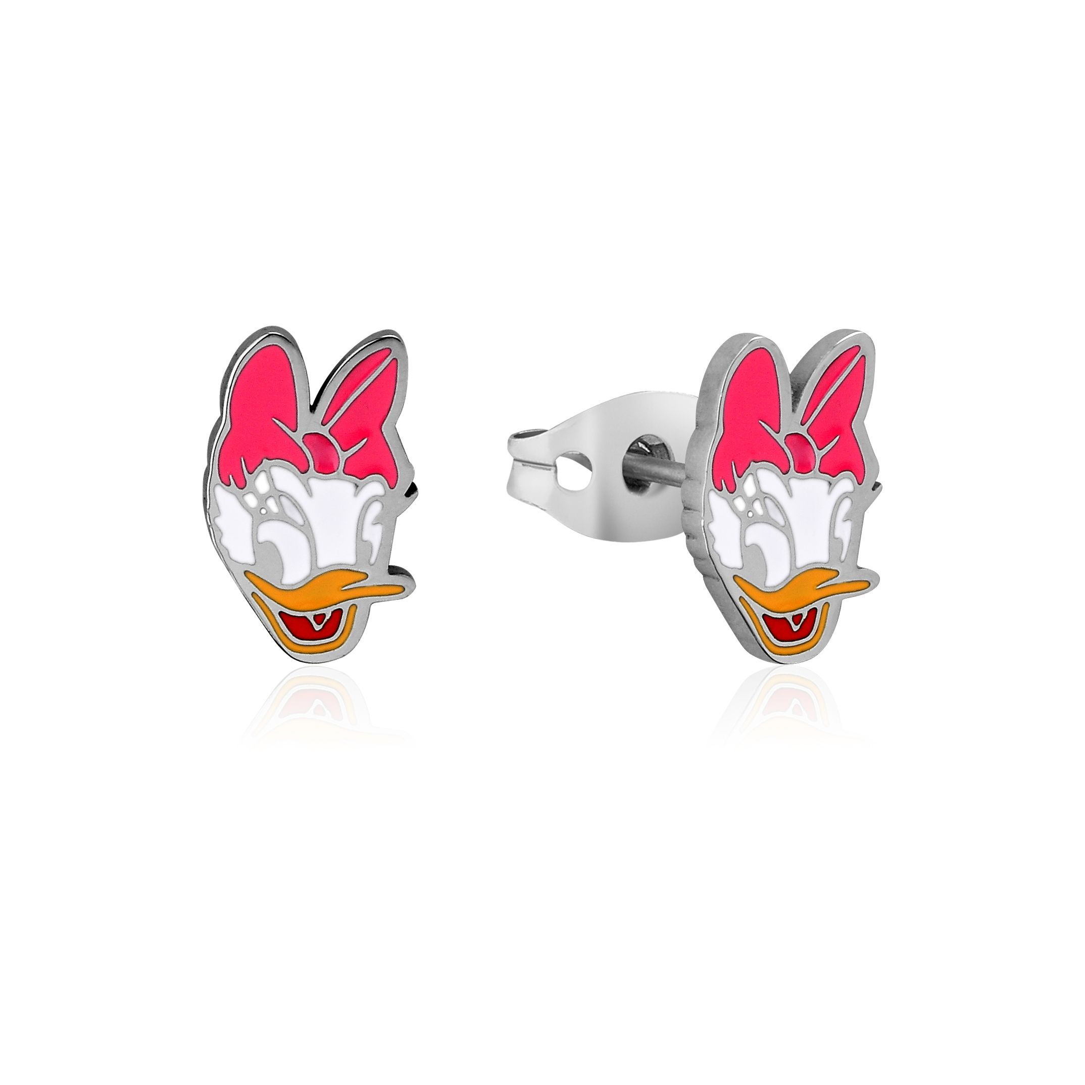 DISNEY Stainless Steel 11mm Animated Daisy Duck Stud Earrings