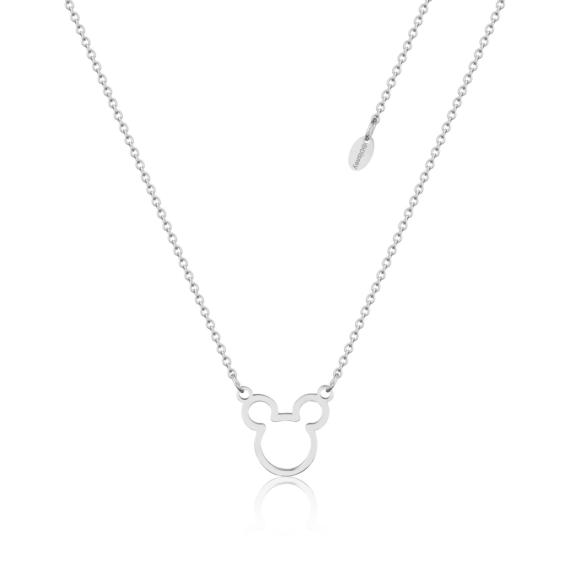 DISNEY Stainless Steel 47cm Mickey Outline Necklace