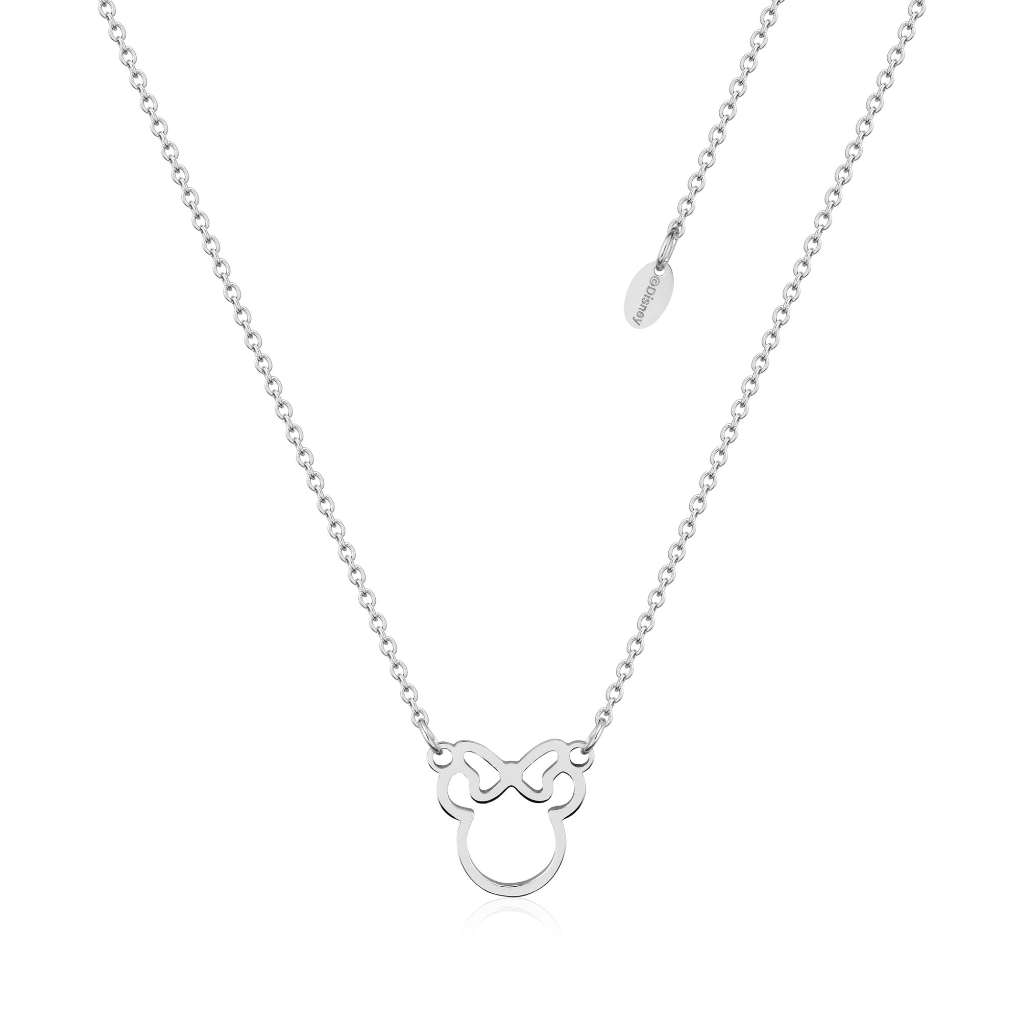 DISNEY Stainless Steel 47cm Minnie Mouse Ouline Necklace