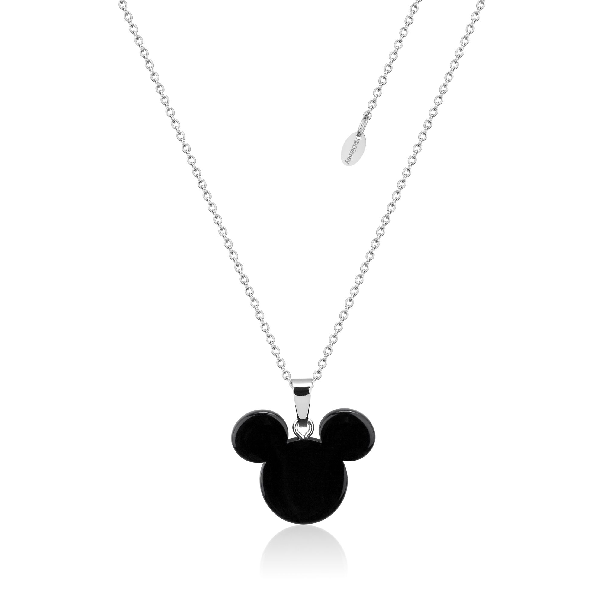 DISNEY Stainless Steel 47cm Mickey Mouse Black Necklace