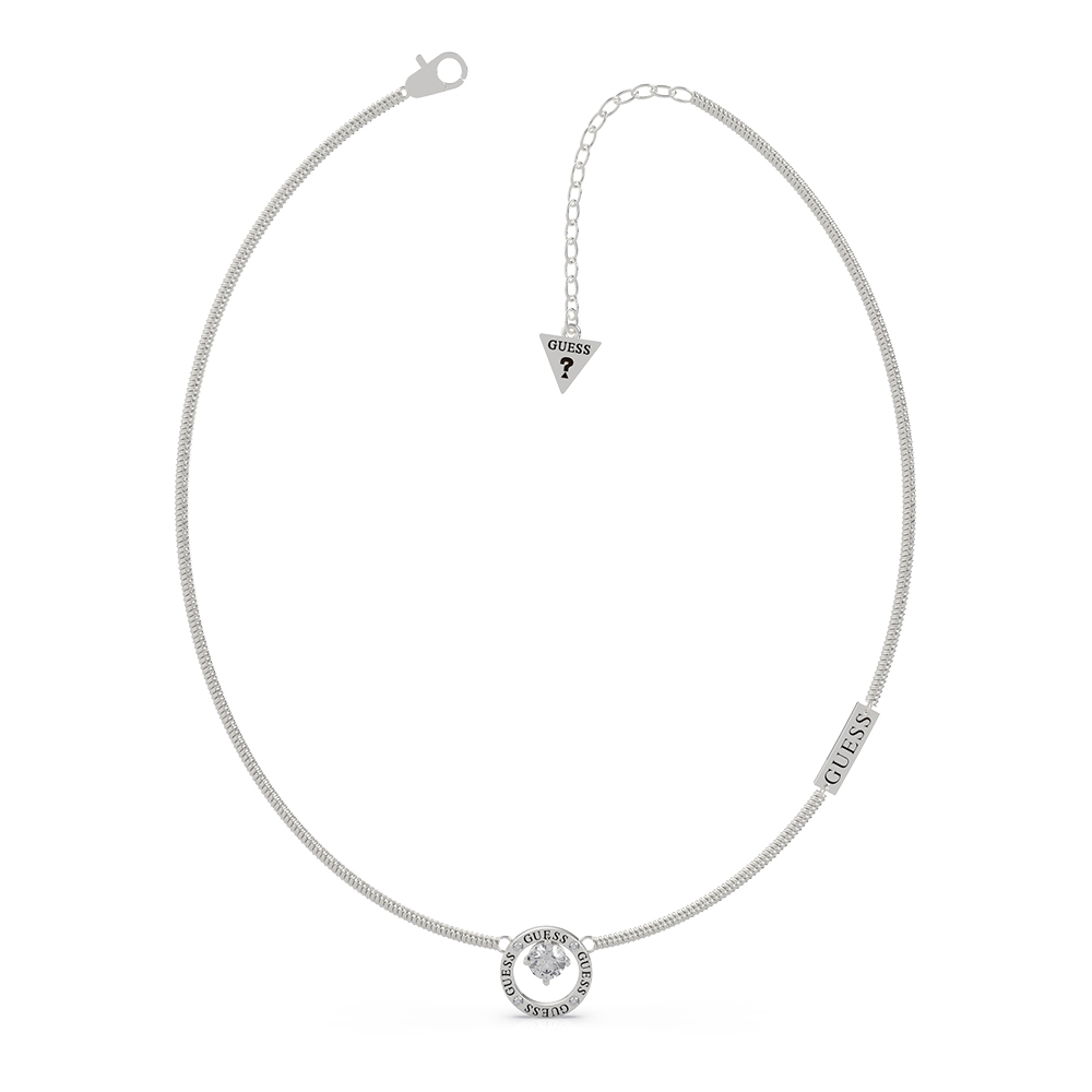 """GUESS 16-18"""" Prong Crystal Chain SST"""