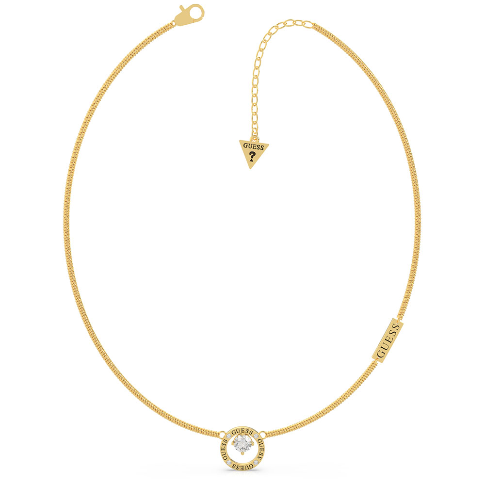 """GUESS 16-18"""" Prong Crystal Chain SST+GP"""