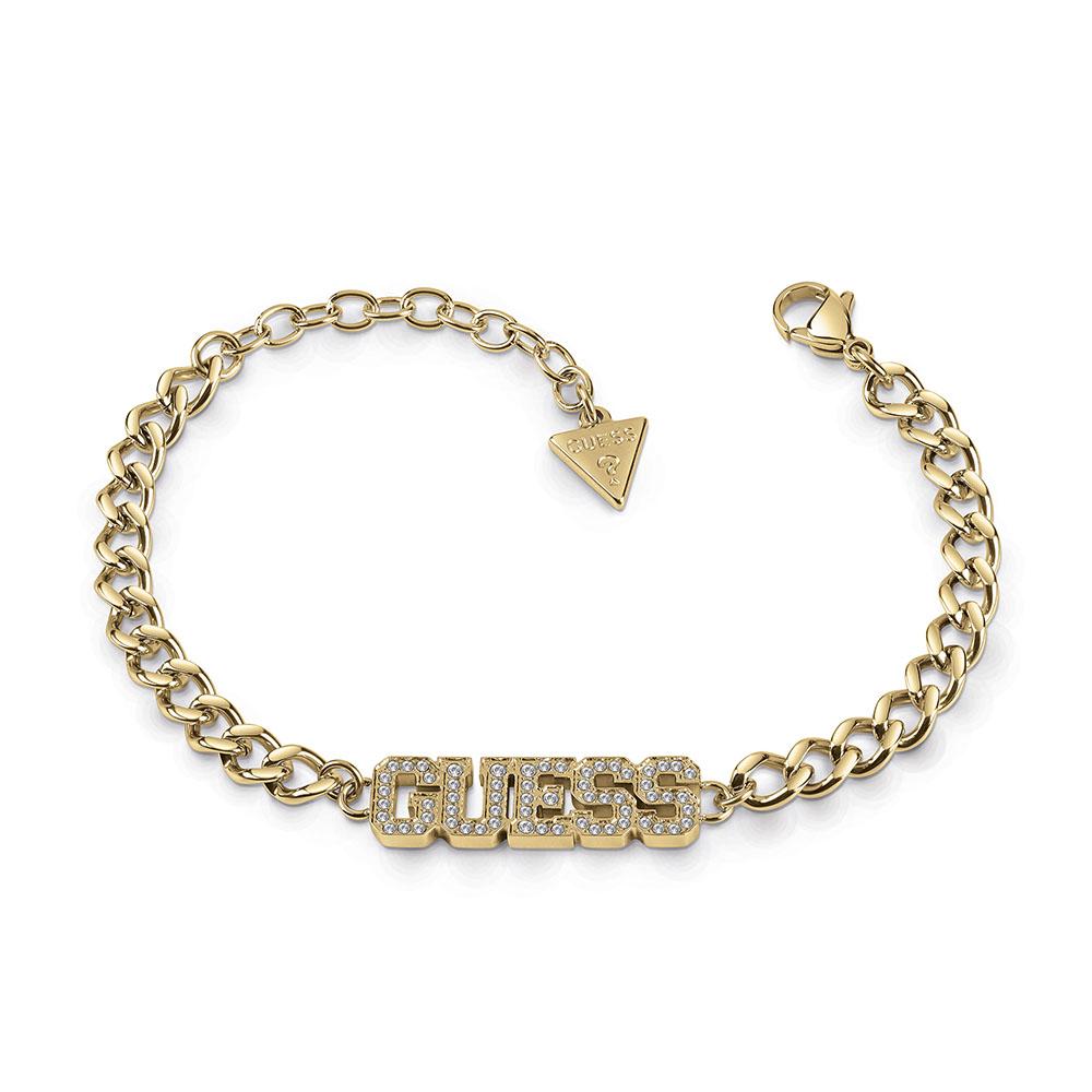 GUESS Pave Capital Bold Bracelet SSt+GP
