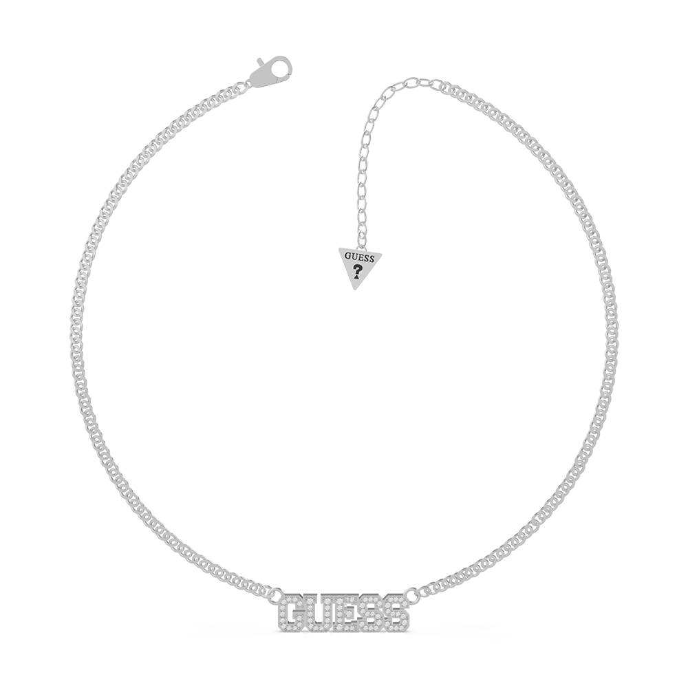 """GUESS 16-18"""" Pave Bold Chain SST"""