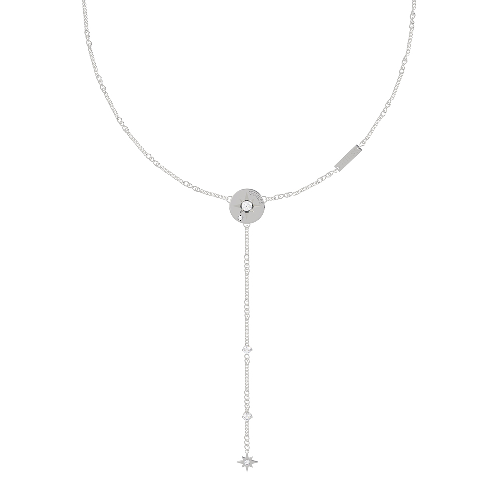 """GUESS 16-18"""" Compass Pendant Y Chain SST"""
