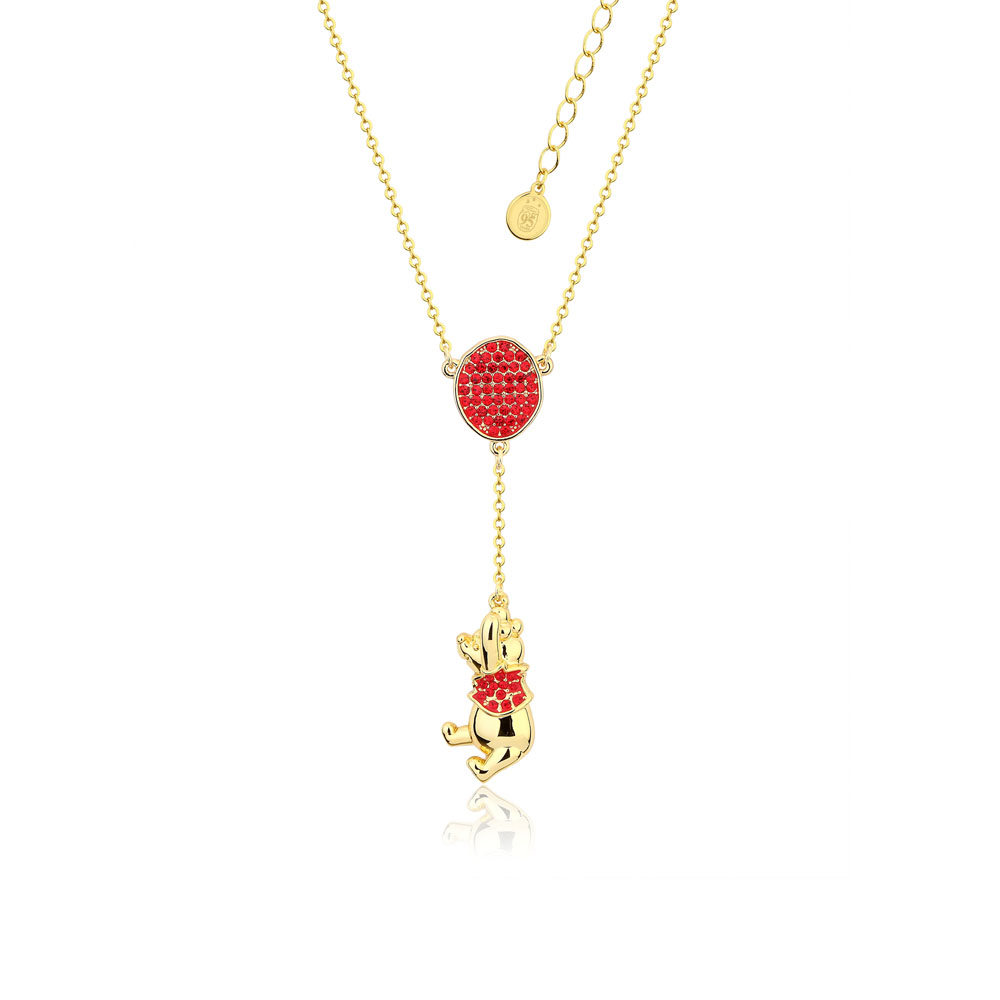 Disney Gold Plated Winnie The Pooh Baloon Pendant On 45+7cm Chain