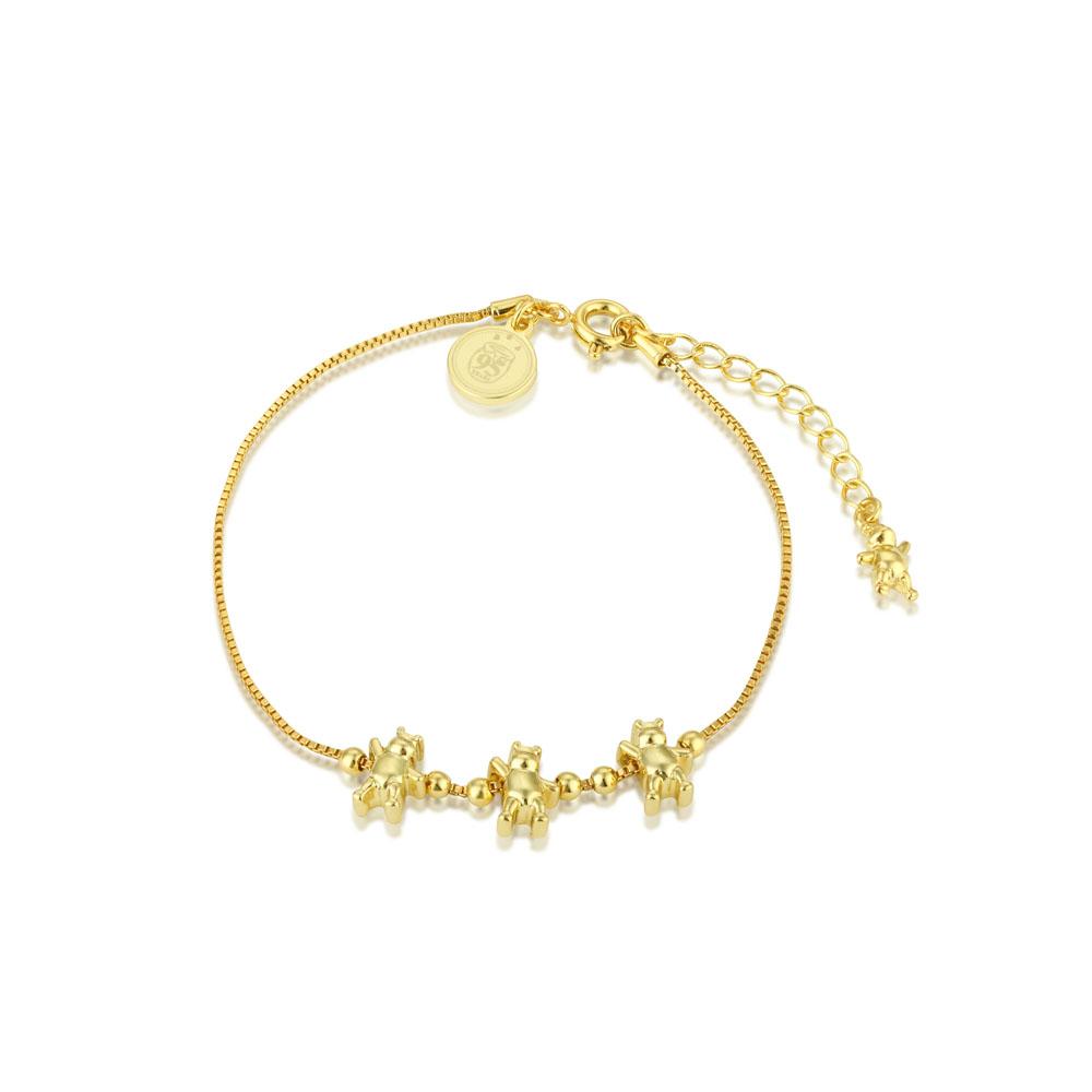 Disney Gold Plated Winnie The Pooh 16+3cm Charm Bracelet