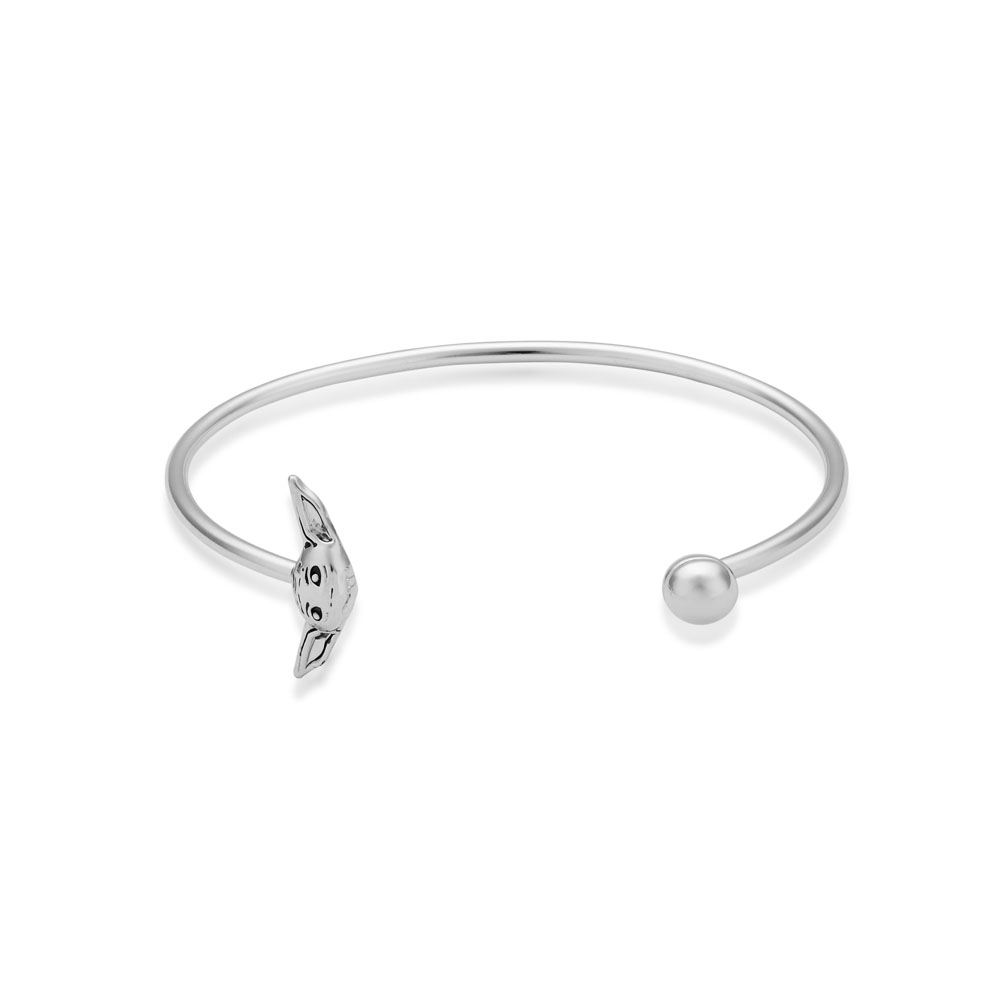 Disney Star Wars White Gold Plated The Mandalorian The Child 60mm Bangle